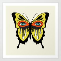 BUTTERFL-EYE Art Print
