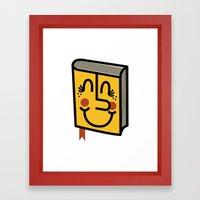 Book Framed Art Print