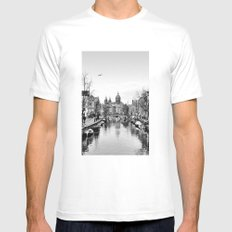 Symmetric Amsterdam SMALL Mens Fitted Tee White