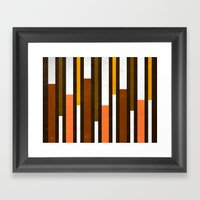 Stripes: Brown, Pink & Y… Framed Art Print