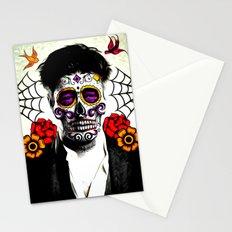 Musician Sugar Skull Painting Stationery Cards