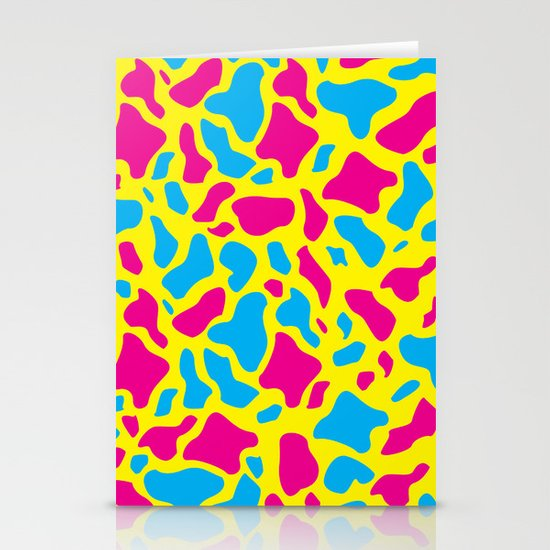 CMYK camo Stationery Card