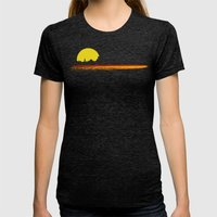 Sunset Womens Fitted Tee Tri-Black SMALL