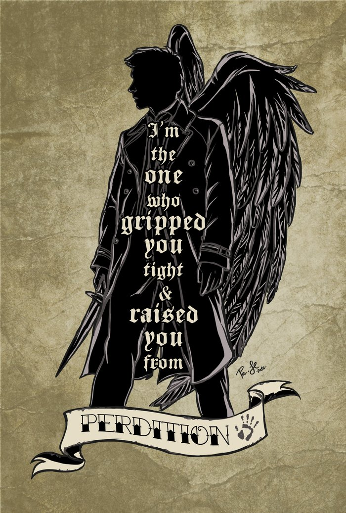 Perdition // Castiel (Supernatural) Canvas Print by Jess P ...