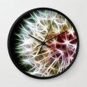 Fractal dandelion Wall Clock