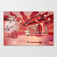 Imaginary landscape Canvas Print