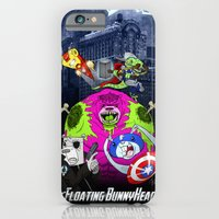 Floating BunnyHead + Avengers iPhone 6 Slim Case