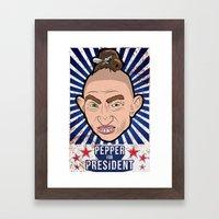 Pepper For President Framed Art Print