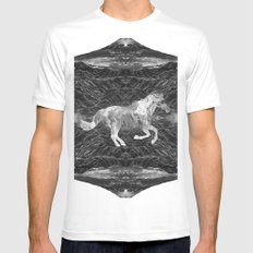 Ciel du Cheval White SMALL Mens Fitted Tee