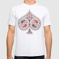 83 Drops - Spades (Red &… Mens Fitted Tee Ash Grey SMALL