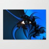 Blue Fractal Eye Canvas Print