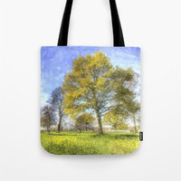 Summer Farm Trees Art Tote Bag