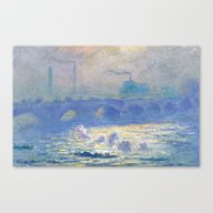 Canvas Print featuring Waterloo Bridge, Sunligh… by Palazzo Art Gallery