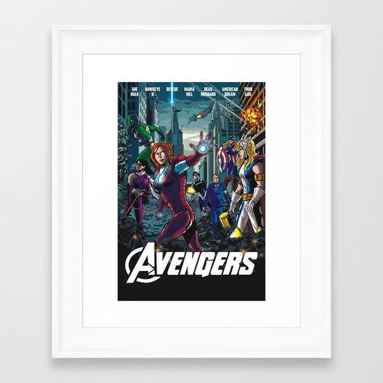 The Lady Avengers Framed Art Print
