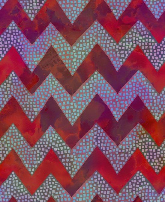 Little Squares Chevron - Red Canvas Print