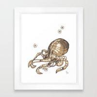 Mechanical Octopus Framed Art Print