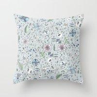 Globos en el jardín Watercolor Throw Pillow