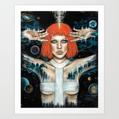 Leeloo Dallas Art Print