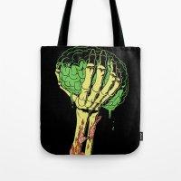 Zombie Skeleton Brain Vi… Tote Bag