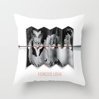 Forced Love Throw Pillow