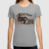 Basquiat Womens Fitted Tee Athletic Grey SMALL