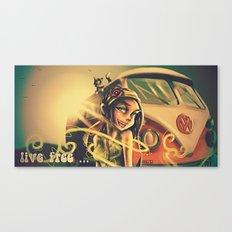 Live Free Vintage Canvas Print