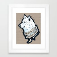 Wolf Protector Framed Art Print