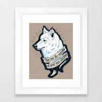 Wolf Protector Framed Art Print