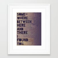Here & There Framed Art Print