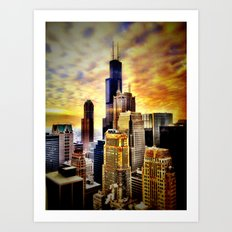 Chicago Fire Art Print