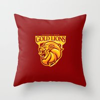 Casterly Rock Gold Lions Throw Pillow
