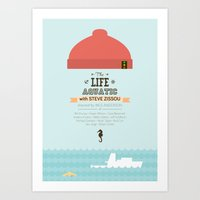 The Life Aquatic With St… Art Print
