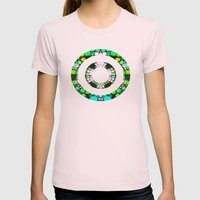 NEON NIGHTS II Womens Fitted Tee Light Pink SMALL