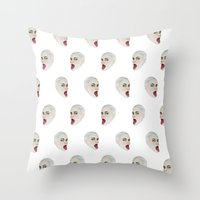 Tongues out Throw Pillow