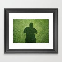 Shadow Man Framed Art Print