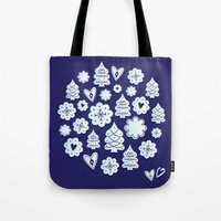 Blue Christmas Decoratio… Tote Bag