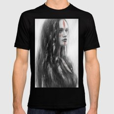 War Feathers  Black SMALL Mens Fitted Tee