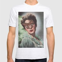 JEAN KENT.  (PIN-UPS). Mens Fitted Tee Ash Grey SMALL