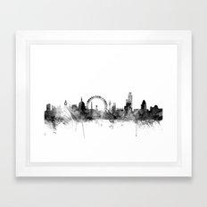 London England Skyline Framed Art Print