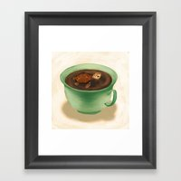 Tea Turtle Framed Art Print