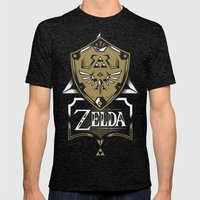 Zelda v89 Mens Fitted Tee Tri-Black SMALL