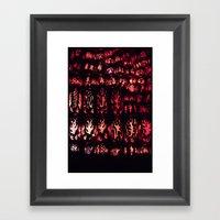 Wall of Flame Framed Art Print
