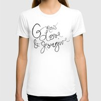 Grow, Love & Forgive Womens Fitted Tee White SMALL