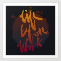 Life Before Work Art Print