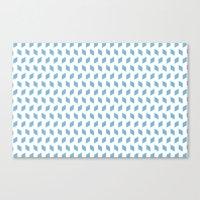rhombus bomb in dusk blue Canvas Print