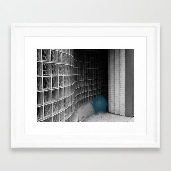 Silence with Window Framed Art Print