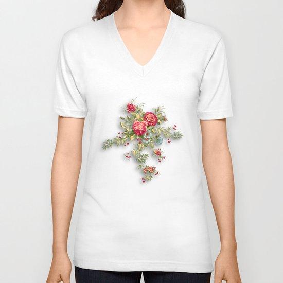 flowers  V-neck T-shirt
