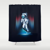 Space Skater Shower Curtain