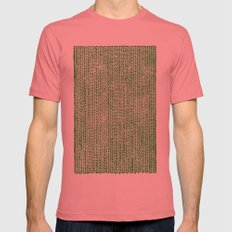 Stockinette Green Mens Fitted Tee Pomegranate SMALL