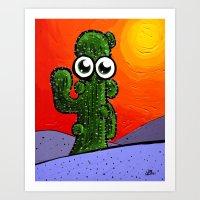 Noone Wants to Hug A Cactus Art Print